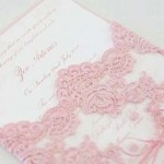 convite com renda bordada