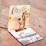 convite de casamento 3d de abrir