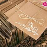 convite simples e barato para casamento